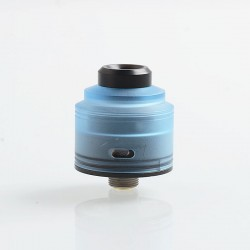 Authentic GAS Mods Nixon S RDA Rebuildable Dripping Atomizer w/ BF Pin - Blue + Black, PMMA + Stainless Steel, 22mm Diameter