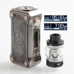 Authentic Tesla Punk Mini 85W TC VW Variable Wattage Box Mod + Resin Tank Kit - Gun Metal, 7~85W, 1 x 18650, 6ml