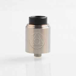 Authentic Blitz Hermetic RDA Rebuildable Dripping Atomizer w/ BF Pin- Silver, Stainless Steel, 22mm Diameter