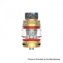 Authentic iOOi I007 Sub Ohm Tank Clearomizer - Gold, Stainless Steel, 6ml, 0.3 Ohm, 25mm Diameter