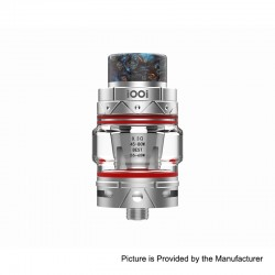 Authentic iOOi I007 Sub Ohm Tank Clearomizer - Silver, Stainless Steel, 6ml, 0.3 Ohm, 25mm Diameter