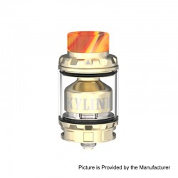 Authentic Vandy Vape Kylin V2 RTA Rebuildable Tank Atomizer - Gold, Stainless Steel + Pyrex Glass, 5ml, 24mm Diameter