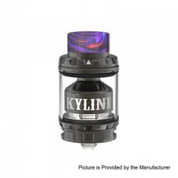 Authentic Vandy Vape Kylin V2 RTA Rebuildable Tank Atomizer - Gun Metal, Stainless Steel + Pyrex Glass, 5ml, 24mm Diameter
