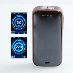 Authentic Vaporesso Luxe 220W TC VW Variable Wattage Box Mod - Bronze, 5~220W, 2 x 18650