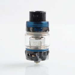Authentic GeekVape Alpha Sub Ohm Tank Clearomizer - Blue + Onyx Resin, 0.2 Ohm, 4ml, 25mm Diameter
