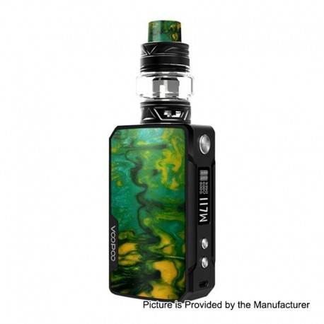 Authentic Voopoo Drag Mini 117W 4400mAh TC VW Mod + UForce T2 Tank Kit - B-Lime, Zinc Alloy + Resin, 5~117W, 5ml, 28mm
