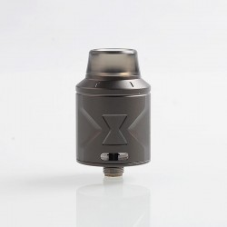 Authentic Hugsvape Piper RDA Rebuildable Dripping Atomizer w/ BF Pin - Gun Metal, Stainless Steel, 24mm Diameter