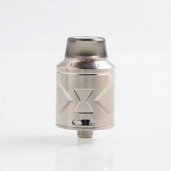 Authentic Hugsvape Piper RDA Rebuildable Dripping Atomizer w/ BF Pin - Silver, Stainless Steel, 24mm Diameter