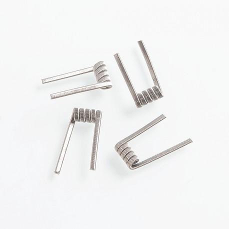 Authentic Fumytech Triple Fused Clapton Kanthal A1 Wire Pre-built Coils - 24GA x 3 + 32GA, 0.2 Ohm (4 PCS)
