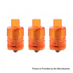 Authentic Tesla One Disposable Sub Ohm Tank Clearomizer - Orange, Plastic, 3ml, 0.2 Ohm, 23.5mm Diameter (3 PCS)