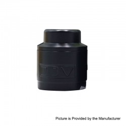 Replacement Drip Tip + Top Cap for DEJAVU DJV RDTA - Black, POM