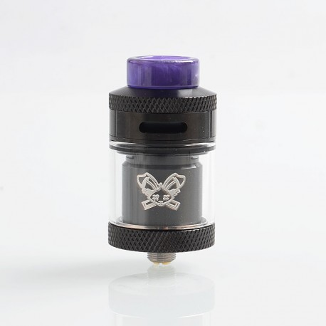 Authentic Hellvape Dead Rabbit RTA Rebuildable Tank Atomizer - Black, 2ml / 4.5ml, 25mm Diameter