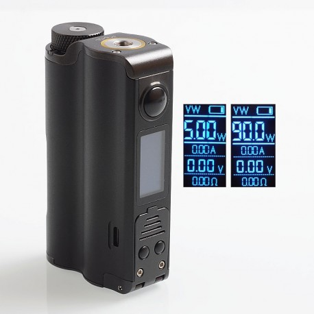 Authentic Dovpo Topside 90W TC VW Variable Wattage Squonk Box Mod - Black, 10ml, 1 x 18650 / 21700