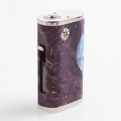 Authentic Asmodus Pumper-18 Squonk Mechanical Box Mod - Purple, Stainless Steel + Stabilized Wood, 8ml, 1 x 18650