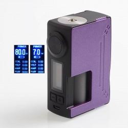 Authentic Hugsvape Surge 80W TC VW Variable Wattage Squonk Box Mod - Purple, PC + Glass Fiber, 6ml, 7~80W, 1 x 18650 / 20700