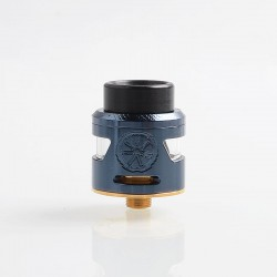 Authentic Asmodus Bunker RDA Rebuildable Dripping Atomzier w/ BF Pin - Blue, Stainless Steel, 25mm Diameter