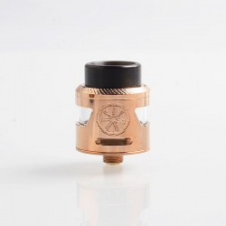 Authentic Asmodus Bunker RDA Rebuildable Dripping Atomzier w/ BF Pin - Rose Gold, Stainless Steel, 25mm Diameter