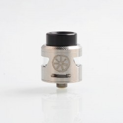 Authentic Asmodus Bunker RDA Rebuildable Dripping Atomzier w/ BF Pin - Silver, Stainless Steel, 25mm Diameter