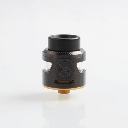 Authentic Asmodus Bunker RDA Rebuildable Dripping Atomizer w/ BF Pin - Black, Stainless Steel, 25mm Diameter