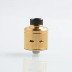 Citadel Style RDA Rebuildable Dripping Atomizer w/ BF Pin - Gold, Stainless Steel, 22mm Diameter