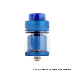 Authentic Wotofo Serpent Elevate RTA Rebuildable Tank Atomizer - Blue, Stainless Steel, 3.5ml, 24mm Diameter