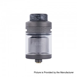 Authentic Wotofo Serpent Elevate RTA Rebuildable Tank Atomizer - Gun Metal, Stainless Steel, 3.5ml, 24mm Diameter