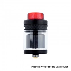 Authentic Wotofo Serpent Elevate RTA Rebuildable Tank Atomizer - Black, Stainless Steel, 3.5ml, 24mm Diameter