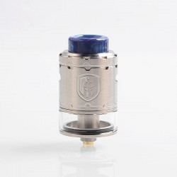 Authentic Wotofo Faris RDTA Rebuildable Dripping Tank Atomizer w/ BF Pin - Silver, Stainless Steel, 3ml, 24mm Diameter