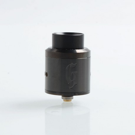 Goon Style RDA Rebuildable Dripping Atomizer w/ BF Pin - Black, Stainless Steel, 25mm Diameter