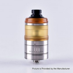 ShenRay Dome V3 Style RTA Rebuildable Tank Atomizer - Silver + Yellow, 316 Stainless Steel + PEI, 3.5ml, 24mm Diameter