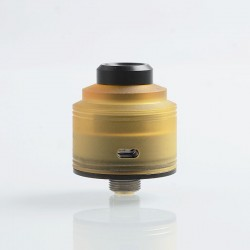 Authentic GAS Mods Nixon S RDA Rebuildable Dripping Atomizer w/ BF Pin - Ultem + Black, PEI + Stainless Steel, 22mm Diameter