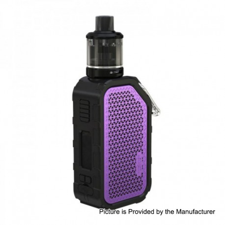 Authentic Wismec Active 2100mAh 80W TC VW Variable Wattage Box Mod + Amor NSE Tank Kit - Purple, 1~80W, 2ml, 25mm