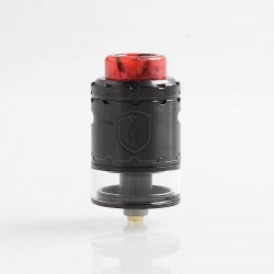 Authentic Wotofo Faris RDTA Rebuildable Dripping Tank Atomizer w/ BF Pin - Black, Stainless Steel, 3ml, 24mm Diameter