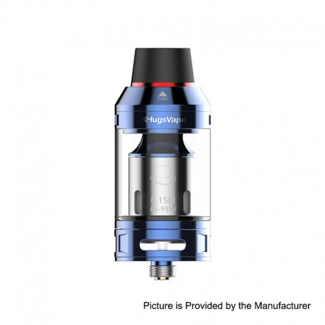 Authentic Hugsvape Magician Mesh Sub Ohm Tank Clearomizer - Blue, Stainless Steel, 5ml, 24mm Diameter