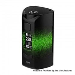 Authentic Rincoe Manto S 228W TC VW Variable Wattage Box Mod - Paint-Green, PC, 1~228W, 2 x 18650