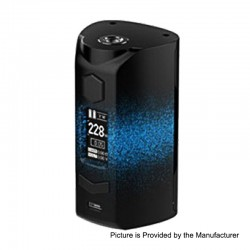 Authentic Rincoe Manto S 228W TC VW Variable Wattage Box Mod - Paint-Blue, PC, 1~228W, 2 x 18650