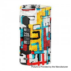 Authentic Rincoe Manto S 228W TC VW Variable Wattage Box Mod - Graffiti A, PC, 1~228W, 2 x 18650