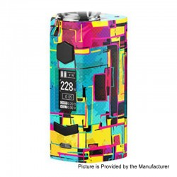 Authentic Rincoe Manto S 228W TC VW Variable Wattage Box Mod - Graffiti B, PC, 1~228W, 2 x 18650