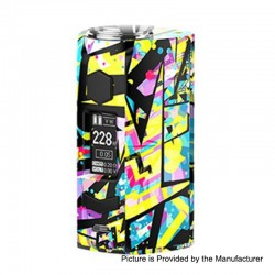 Authentic Rincoe Manto S 228W TC VW Variable Wattage Box Mod - Graffiti D, PC, 1~228W, 2 x 18650