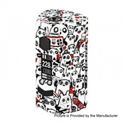 Authentic Rincoe Manto S 228W TC VW Variable Wattage Box Mod - Panda, PC, 1~228W, 2 x 18650