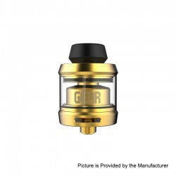 Authentic OFRF Gear RTA Rebuildable Tank Atomizer - Gold, Stainless Steel, 3.5ml, 24mm Diameter