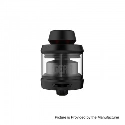 Authentic OFRF Gear RTA Rebuildable Tank Atomizer - Black, Stainless Steel, 3.5ml, 24mm Diameter