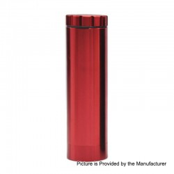 Dugout Style Grinder All in One Container Lighter Holder Cannabis Marijuana Dry Herb Grinder - Red, Aluminum Alloy