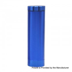 Dugout Style Grinder All in One Container Lighter Holder Cannabis Marijuana Dry Herb Grinder - Blue, Aluminum Alloy