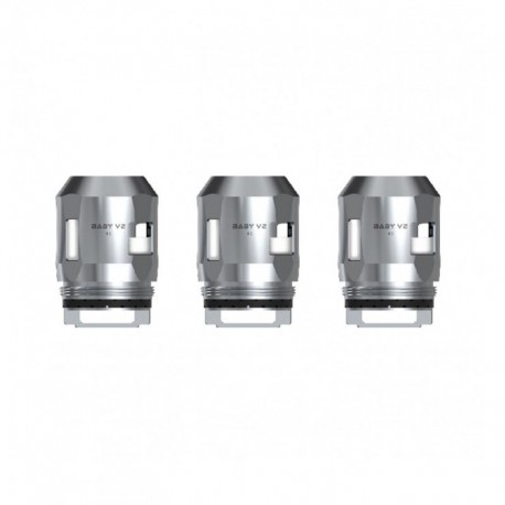 Authentic SMOKTech SMOK Replacement A3 Coil Head for TFV8 Baby V2 Sub Ohm Tank - Silver, 0.15ohm (80~130W) (3 PCS)