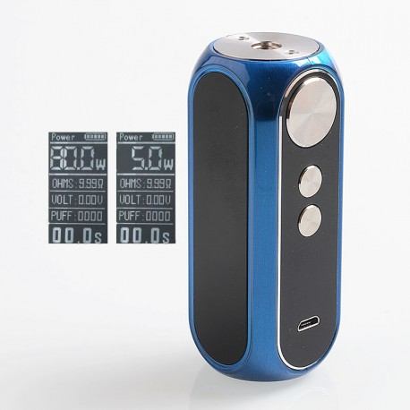 Authentic OBS Cube 80W 3000mAh VW Variable Wattage Built-in Battery Box Mod - Blue, Zinc Alloy