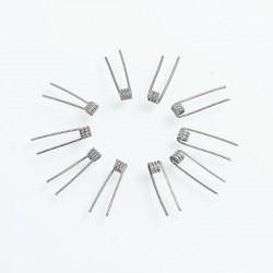 Authentic Fumytech Caterpillar Clapton Kanthal A1 Wire Pre-built Coils - 28GA + 32GA, 0.3 Ohm (10 PCS)