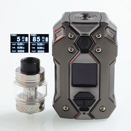 Authentic HAVA Firefly 85W 2000mAh TC VW Mod + Vtank Kit - Gun Metal, Zinc Alloy + Stainless Steel, 5~85W, 5ml, 24mm