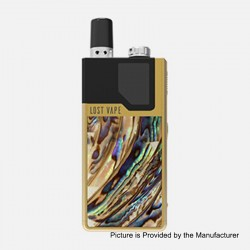 Authentic Lost Vape Orion DNA GO 40W 950mAh All-in-one Starter Kit - Gold Abalone, 2ml, 0.25 Ohm / 0.5 Ohm