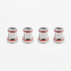 Authentic Uwell Replacement Dual SS904L Coil for Crown 4 IV Sub Ohm Tank Clearomizer - 0.2 Ohm (70~80W) (4 PCS)